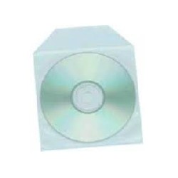 PACK 100 FUNDAS CD/DVD PLASTICO CON SOLAPA