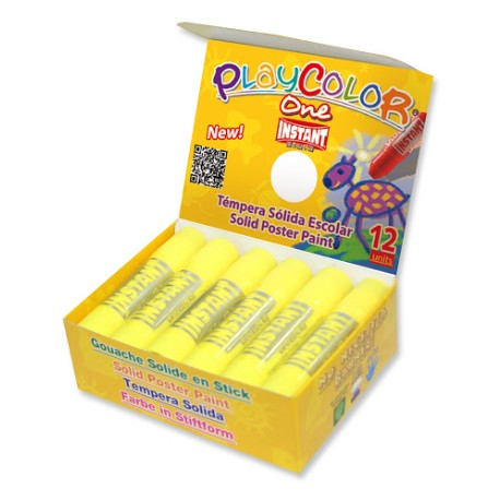 BARRA TEMPERA SOLIDA ONE 10G AMARILLO PLAYCOLOR C/12 UD
